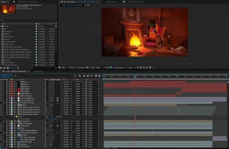 Compositing under work